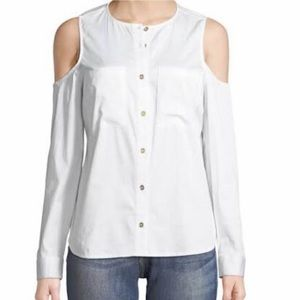 Michael Kors Cold Shoulder Blouse